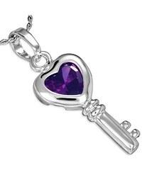 DAMSON Přívěsek s řetízkem - Heart Key