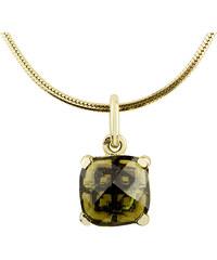 KLENOTA Zlatý náhrdelník s vltavínem