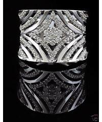 KLENOTA Zlatý prsten s diamanty 0.53 kt