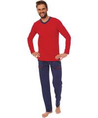 Italian Fashion Bavlněné pánské pyžamo Miloš vínové