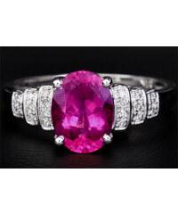 KLENOTA Prsten s turmalínem 1,21 kt a diamanty 0.15 kt