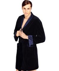 Wanmar Luxusní pánský župan Bonjour temně modrý