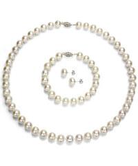 KLENOTA Perlová souprava - náhrdelník, náramek a náušnice