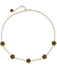 KLENOTA Zlacený náhrdelník s tygřím okem