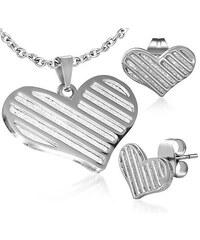 I-Moda Ocelový set srdce