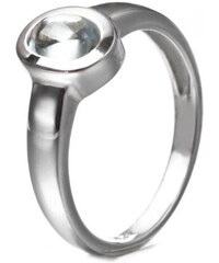 KLENOTA Akvamarínový stříbrný prsten