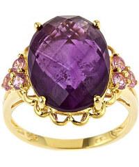 KLENOTA Stříbrný prsten s ametystem