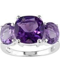 KLENOTA Stříbrný prsten s ametystem a Rosa de France