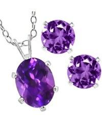 KLENOTA Ametystová souprava šperků