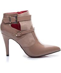 SEASTAR Béžové kotníčkové boty na podpatku