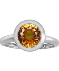 KLENOTA Zásnubní prsten s citrínem