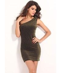 Damson Party zlaté metalické šaty