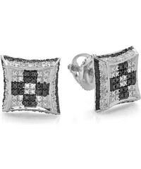 KLENOTA Stříbrné nášnice s diamanty