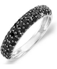 KLENOTA Výroční prsten s černými diamanty
