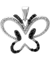 KLENOTA Motýlový přívěsek s diamanty