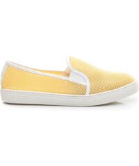 VICES Letní žluté nazouvací boty
