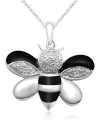 KLENOTA Přívěsek včela s diamanty