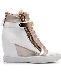 CNB Efektní tenisky sneakers styl bílé