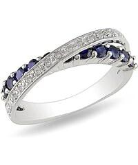 KLENOTA Prsten se safíry a diamanty