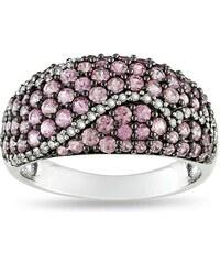 KLENOTA Safírový prsten ze stříbra