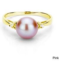 KLENOTA pozlacený perlový prsten