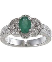 KLENOTA Smaragdový prsten s diamanty