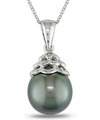 KLENOTA Stříbrný přívěsek s Tahitskou perlou