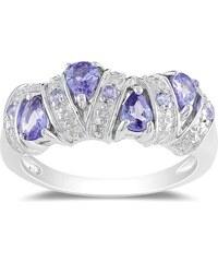 KLENOTA Stříbrný prsten s tanzanity