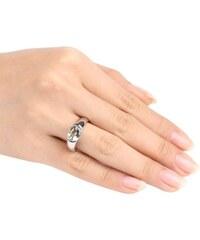 KLENOTA Prsten ze stříbra s ametystem