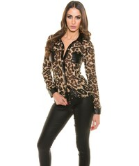 Koucla Dámská košile leopard