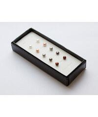 KLENOTA Sada pěti párů perlových peciček ze sladkovodních perel