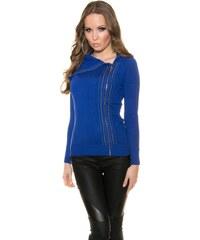 Koucla Modrý propínací svetr