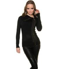Koucla Černý propínací svetr