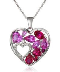 KLENOTA Drahokamový přívěsek srdce s diamantem