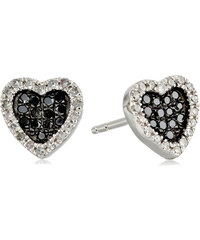 KLENOTA Diamantové náušnice srdce