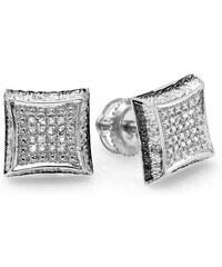 KLENOTA Pánské diamantové náušnice