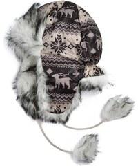 Art of Polo Dámská zimní ušanka s kožešinkou a bambulemi béžová