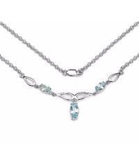 KLENOTA Stříbrný náhrdelník s topazem