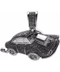 KLENOTA Zirkonový přívěsek ve tvaru auta