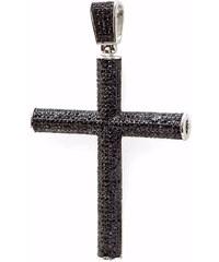 KLENOTA Pánský zirkonový přívěsek ve tvaru kříže