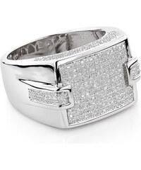 KLENOTA Luxusní briliantový prsten pro muže