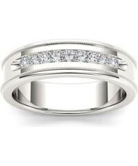 KLENOTA Exkluzivní pánský snubní prsten s brilianty