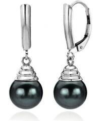 KLENOTA Náušnice Tahitské perly