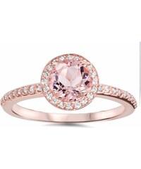 KLENOTA Zásnubní prsten s morganitem a diamanty