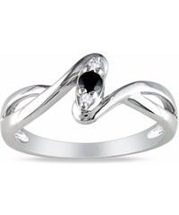 KLENOTA Prsten s diamanty, stříbro