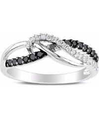 KLENOTA Diamantový prsten ve stříbře