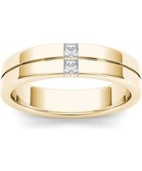 KLENOTA Zlatý pánský prsten s diamanty