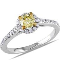 KLENOTA Diamantový zlatý zásnubní prsten