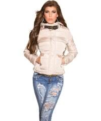Koucla Zimní dámská bunda béžová
