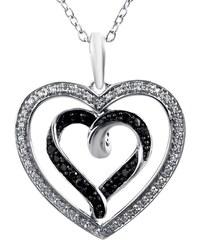 KLENOTA Přívěsek srdce s diamanty